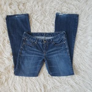Express 'Eva Curvy Fit' Boot Cut Mid Wash Jeans